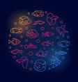 aquarium fish round colored vector image vector image