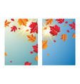 autumn leaves with sunlight background vector image vector image