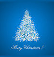 background with christmas tree from snowflakes vector image vector image