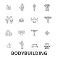 bodybuilding body muscle gym muscleman vector image