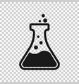 chemistry beakers sign icon in transparent style vector image vector image