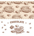 chocolate banner template with sweet seamless vector image