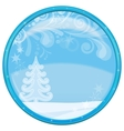 Christmas background button vector image vector image