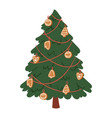christmas new year tree icons ornament star vector image vector image