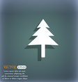 Christmas tree icon symbol on the blue-green