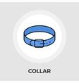 Collar Flat Icon vector image vector image