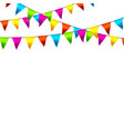 colorful bunting flags with space for text vector image