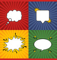 comic speech bubble retro burst background in pop vector image