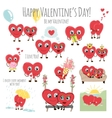 Congratulations card with hearts for Valentines vector image vector image