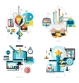 Creative Work Icons Set vector image vector image