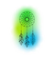dreamcatcher with feathers and colorful vector image