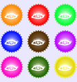 eyelashes icon sign Big set of colorful diverse vector image vector image