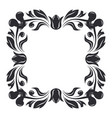 floral decoration ornamental square frame vector image