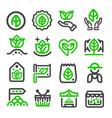 green marketorganic market icon vector image