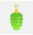 green toy fir tree icon flat style vector image