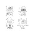 hand drawn emblems for cafe or restaurant vector image vector image