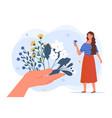 herbal medicine concept vector image