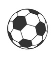 Icon of Ball for european football Soccer symbol vector image vector image