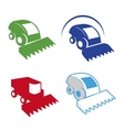 Isolated colorful combine logo set vector image vector image
