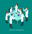 isometric chemical research template vector image vector image