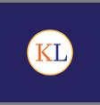 k l letter logo icon design vector image vector image