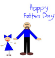 Kids Picture for Fathers Day Greeting Car vector image vector image