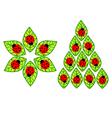ladybugs on leaves vector image