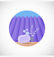 lavender soap flat icon vector image