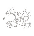 lettering for happy new 2018 year vector image vector image