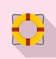 life buoy icon flat style vector image