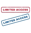 Limited Access Rubber Stamps vector image vector image