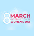 lovely womens day blue background vector image vector image