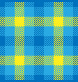 lumberjack plaid pattern in yellow and blue vector image