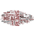 meal plans review good or bad text background vector image vector image