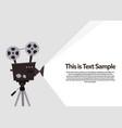 movie projection retro cinema flyer vector image vector image