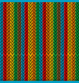 multicolored vertical striped with zigzag elements vector image vector image