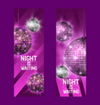 night is waiting set banners vector image