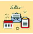 office checklist email calendar work image vector image vector image