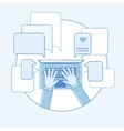 Online communication flat linear vector image vector image
