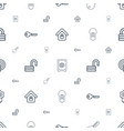 password icons pattern seamless white background vector image vector image