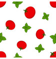 pattern with basil and tomato vector image vector image
