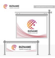 professional bill board ad design with banner vector image