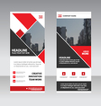 Red Business Roll Up Banner flat design templates vector image vector image