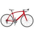 Road racing bike vector image vector image
