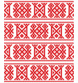 sami seamless design lapland cross-stitch vector image vector image