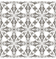 seamless abstract flower pattern with swirls vector image vector image
