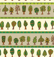 Seamless hand-drawn pattern with doodle forest vector image vector image
