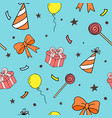 seamless pattern for party birthday background vector image