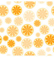 seamless pattern with sliced oranges background vector image