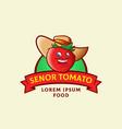 senor tomato abstract sign symbol or logo vector image vector image